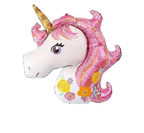 SauParty sin Globo de Helio ! Globo de Plástico Unicornio Bebé Chica Rosa Fucsia Decoración de Regalo