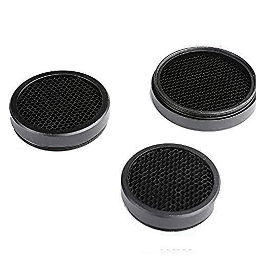 HONESTILL Anti-Reflection Device Honeycomb Scope Protector Mesh 44MM/50MM/56MM Optic Aim Sight Rifle Scope Sunshade Cover Cap (Black, 50mm)