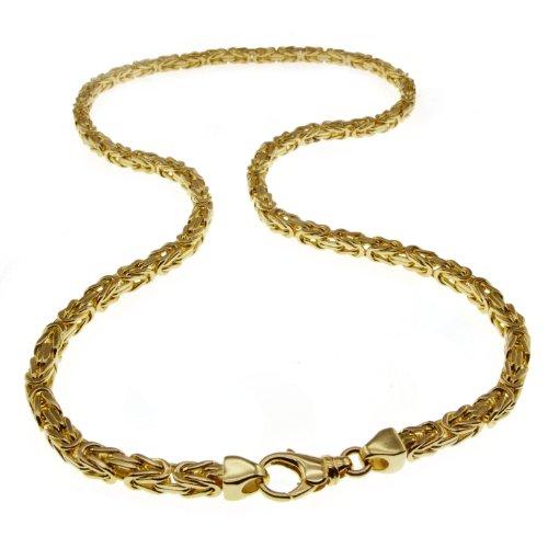 Collana a maglia bizantina 7 mm – 60 cm – 750 oro giallo