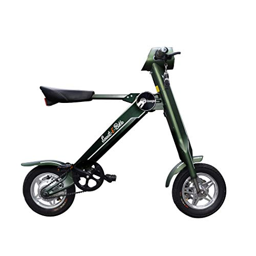 Scoot-E-Bike Folding Electric Adult Scooter - Electric Bicycle - Bluetooth Speaker - Stylish and Stable - Leather Seat - Lightweight - Excellent Range