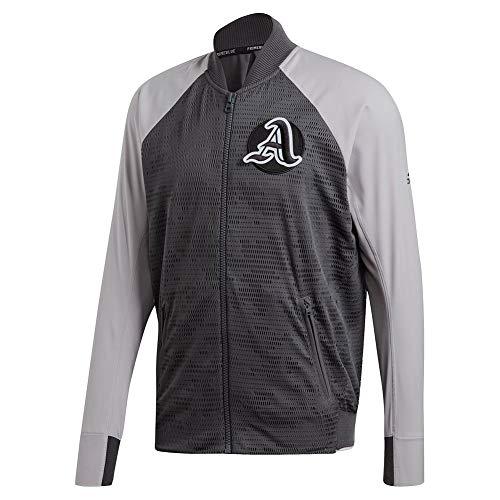 adidas Men's Varcity Jacket Primeblue Gray/Gray Medium