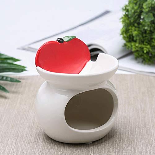 AO HAI ceniceros Cenicero de cerámica Multifuncional de Doble Capa cenicero Creativo Encantador de salón de decoración en casa habitación 4.1 * 4.3in cenicero portatil (Color : Red+White)