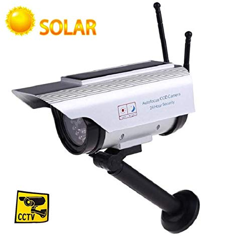 Buy Bargain Solar Power Dummy Camera,CCTV Fake Security Surveillance Indoor/Outdoor Adjustable Camer...