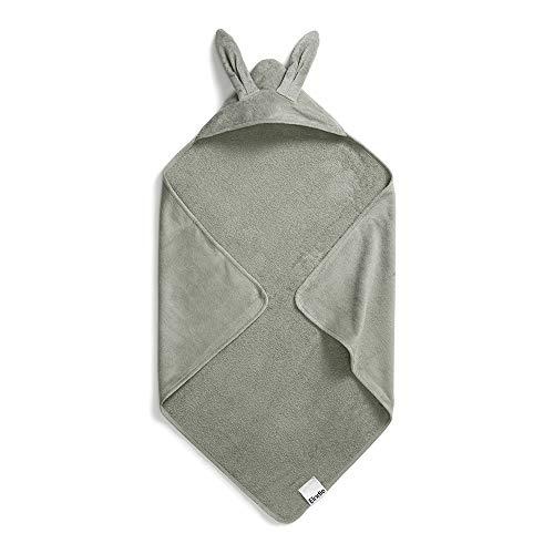 Elodie Details Hooded handdoek voor baby Mineraal Groen Bunny