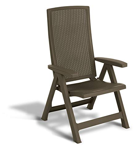 Keter -  Silla reclinable de jardín exterior Montreal, Color marrón