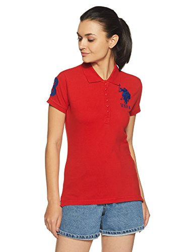 US Polo Assn. Women's Polo (UWTS0736_High Risk Red_XS HS)