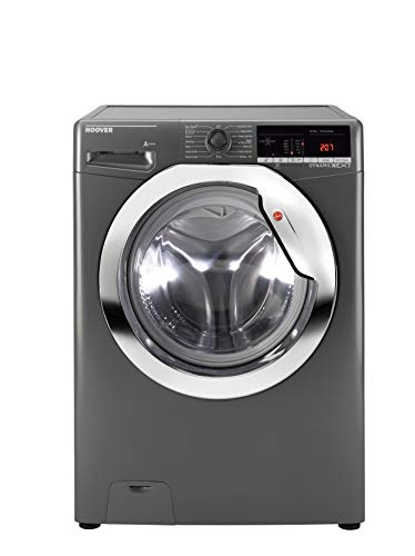 Hoover Dynamic Next DXOA 48C3R Freestanding Washing Machine, WiFi Connected, 8kg Load, 1400rpm spin, Graphite