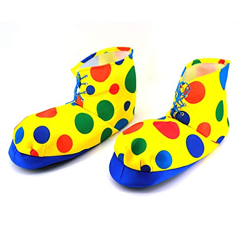 Dress Up America Cubiertas De Zapatos De Payaso con Lunares-(Talla nica) Shoe Cover, Unisex Adulto, Multicoloured, One Size