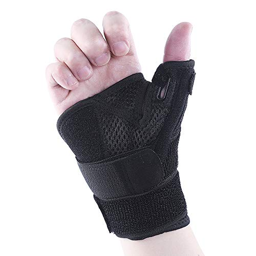 Reversible Thumb & Wrist Stabilizer Splint for BlackBerry Thumb, Trigger Finger, Pain Relief, Arthritis, Tendonitis, Sprained, Carpal Tunnel, Stable, Lightweight, Breathable