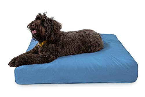 K9 Ballistics Tough Rectangle Nesting Large Dog Bed- Washable, Durable and Waterproof Dog Bed - Made for Big Dogs, 34'x40', Blue