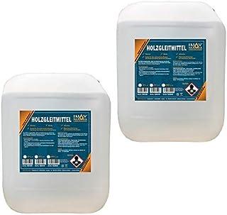 INOX® 2 x 10 l glidmedel i trä silikonfritt – glidmedel för träbearbetning på hyvelmaskin, fräsmaskin eller bordscirkelsåg