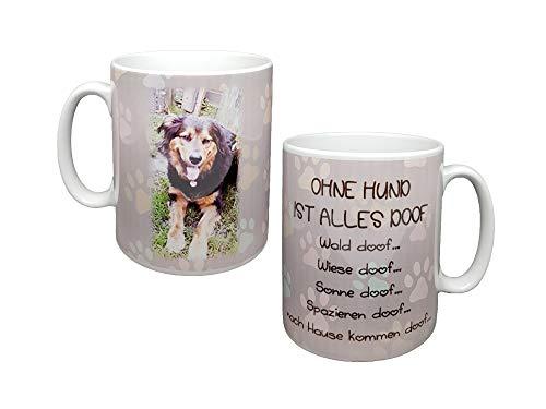 Tasse für Hundeliebhaber mit eigenem Foto und Spruch. Personalisierte Fototasse, prima Geschenkidee…