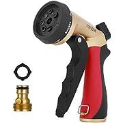 Crenova HN-05S pray Nozzle Garden Hose Nozzle Sprayer Gun - 7 Spraying Modes - Easy Flow Control Knob - Metal Nozzle High Pressure for Car Washing/Plant Watering/Sidewalk Cleaning/Pet Bathing