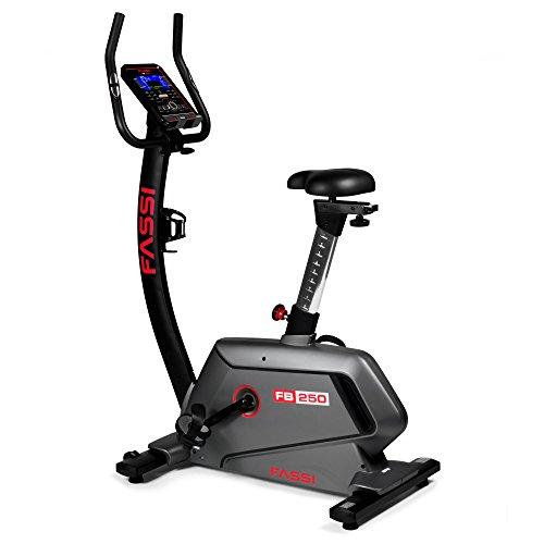 Fassi FB 250 Cyclette, Ricevitore Cardiaco, Wi-Fi, 24 Programmi di Allenamento
