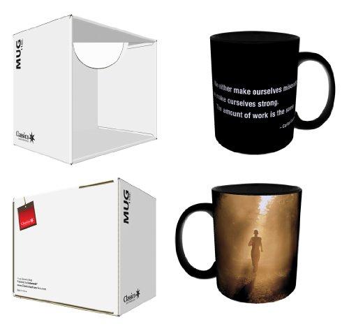 Carlos Castaneda Inspirador de força citação motivacional fotografia decorativa preta cerâmica caixa de presente café (chá, cacau) 325 ml Caneca