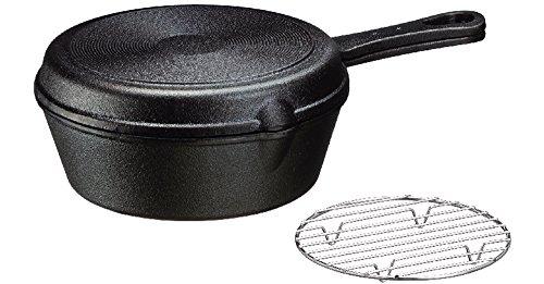 イシガキ産業 スキレット フライパン オーブン 鉄鋳物 18cm 深型 浅型 セット 網付き