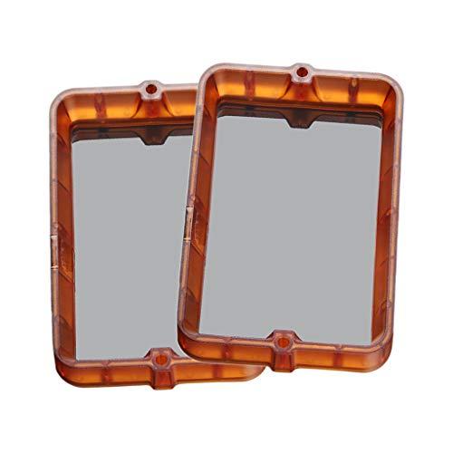 B Blesiya 2 Teiliges Materialgestell 178x120mm Kunststoffharzbehälter für DLP SLA 3D Drucker