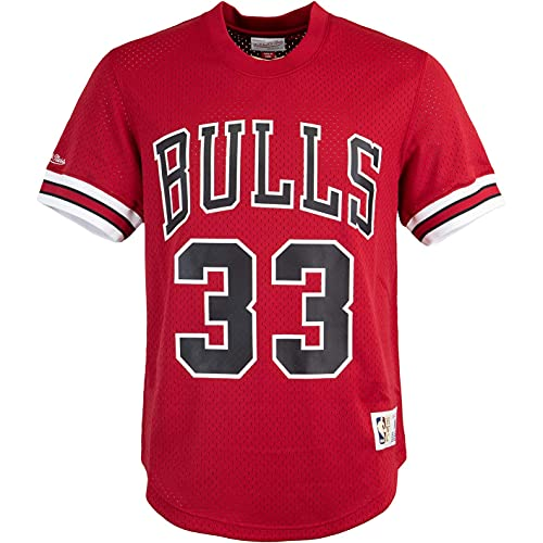 Mitchell & Ness Name & Number Scottie Pippen Chicago Bulls 95/96 Trikot (M, red)