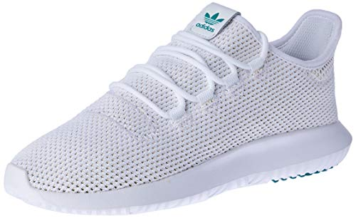 adidas Men's Tubular Shadow Gymnastics Shoes, White (Ftwr White/Active Green/Solar Gold), 4 UK (36 2/3 EU)