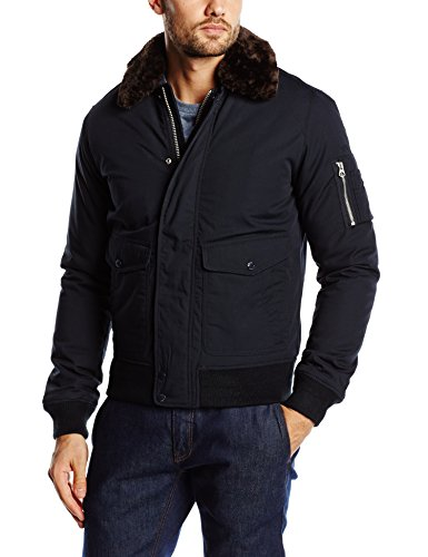 Schott NYC Herren Air Jacke, Blau (Navy), XXX-Large