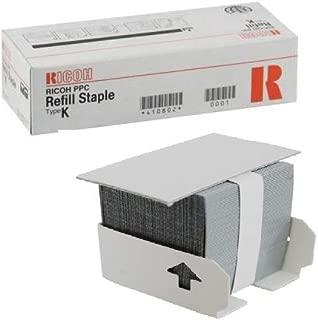 OEM Ricoh Type K Staple Refills 3/BX (=410801) 410802  1022, 1027 1060 1075, 2228C, 2232C, 2238C, SPC811DN, AP3800C, 1022, 1027, 1035, 1045, 1060, 1075 SR760 SR770 SR790
