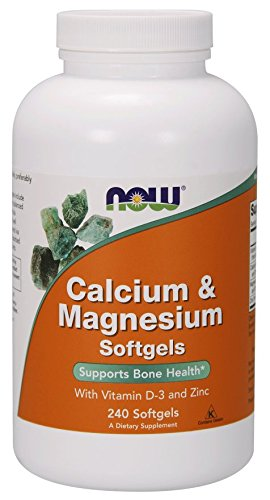 Now Foods I Calcium & Magnesium I Mit Vitamin D-3 und Zink I 240 Softgels