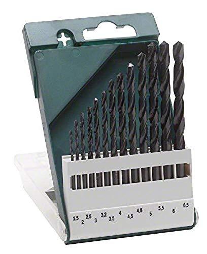 Bosch 2 609 255 031 - Pack de 13 brocas para metal HSS-R, DIN 338