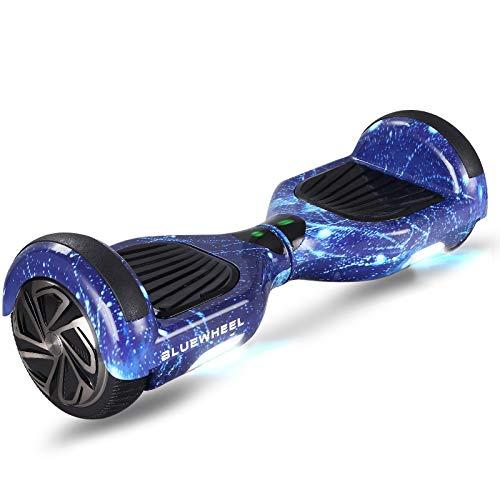 Bluewheel 6.5 Patinete eléctrico - Marca de calidad alemana - Hoverboard con Sistema de Seguridad para Niños, Altavoz Bluetooth y Luces LED, 2 Motores de 700W - Patín Eléctrico Auto Equilibrio HX310s