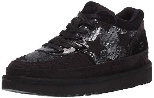 UGG Damen Highland Sneaker Schuh, Schwarze Pailletten Sterne, 36 EU