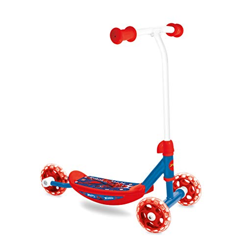 Mondo Toys - My First Reverse Scooter SPIDERMAN - Monopattino Baby bambino/bambina - 3 ruote - 28486