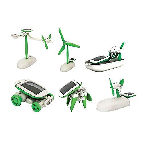 KUVADIYA ENTERPRISE 6 in 1 Solar Robot Kit Toys for Kids, Educational and Learning Robotic Model Building Science School Projects Kids Boys Girls Gift Age 6+ Game (Multi Color)