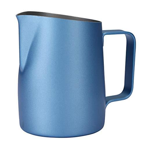 Dianoo Brocco Fumante Per Cappuccino Brocca Per Il Latte Espresso Acciaio Inossidabile Tazza Di Caffè Latte Art 420ml Blu