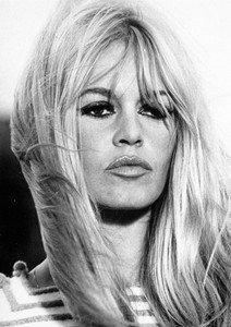 Poster Brigitte Bardot – Gesicht – Schwarz und Weiß – schönes A4-Poster