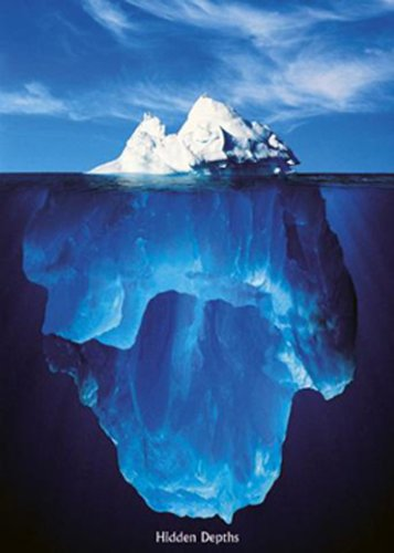 1art1 Motivation - Eisberge, Verborgene Tiefen Poster 91 x 61 cm