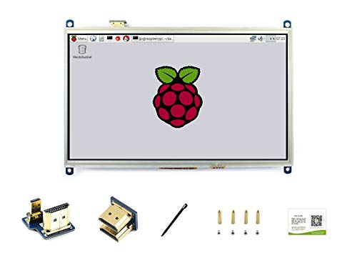 Waveshare Raspberry Pi 10.1 Inch Display 1024×600 Resolution Resistive Touchscreen HDMI LCD (H) IPS Monitor Direct-Pluggable for Raspberry Pi 4B/3B+/3A+/3B/2B/1B+/1A+,Support Windows (No Touch)