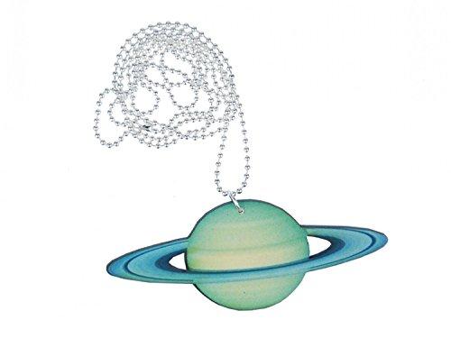Miniblings Planeta Urano Cadena Collar 80cm Sistema Solar Ringplanet Turquesa