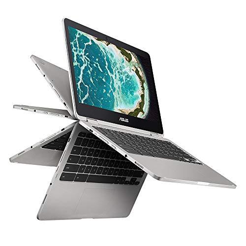"ASUS Chromebook Flip C302 2-In-1 Laptop- 12.5"" Full HD 4-Way NanoEdge Touchscreen, Intel Core M7 Processor, 8GB RAM, 64GB Flash Storage, USB Type C, All Metal Body, Chrome OS- C302CA-AH74 Silver"