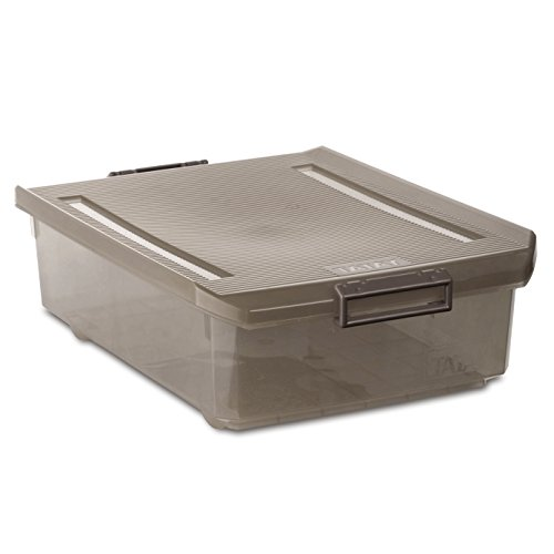 TATAY 1151214 Caja multiusos bajo cama, 32 l, Fume, 40.00x56.50x17.50 cm