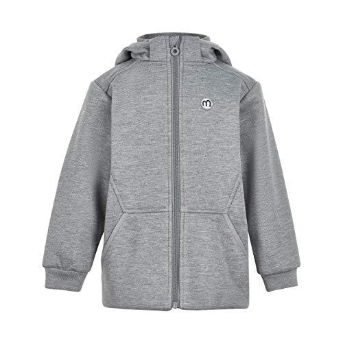 MINYMO Jungen Softshelljacke leichtes Fleecefutter Übergangsjacke Grey Melange, Größe:92, Farbe:Grey Melange