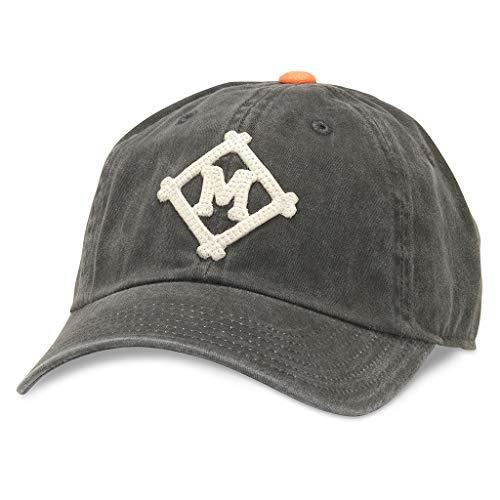 AMERICAN NEEDLE Archive MiLB Baseball Dad Hat, Minneapolis Millers, Black/Orange
