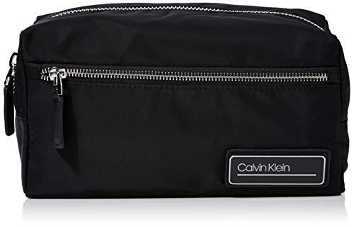 Calvin Klein Herren Primary Washbag Schultertasche, Schwarz (BLACK), 13x26x12cm