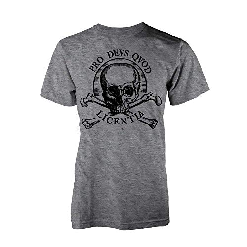 Uncharted 4 - A Thief's Ende Skull - Offizielles Herren T-Shirt - grau, M