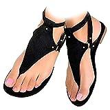Sandals for Women Summer Bohemian Beach Sandals Casual Comfy Gladiator Sandals Retro Back Zip Flat...