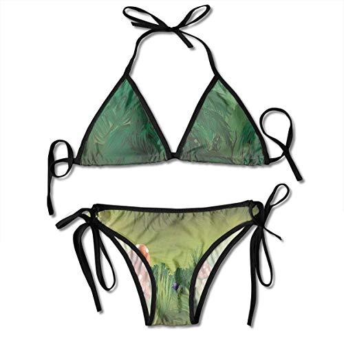 Mushroom Wonderland Lawn Green Bikini Set Strandbadebekleidung Zweiteiliger Bikini-Badeanzug für Damen Mädchen Beachwear