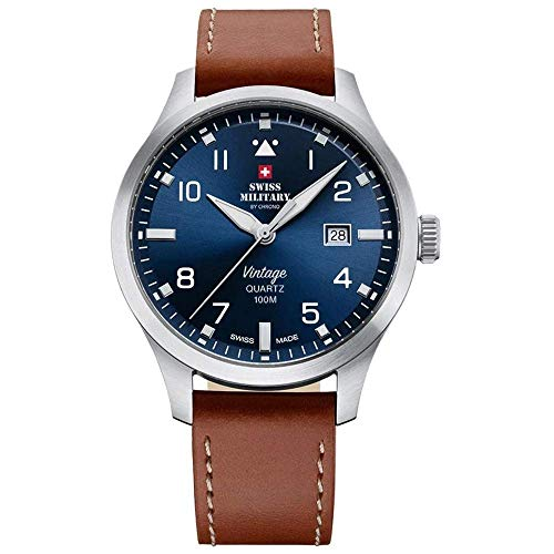 Swiss Military SM34078.07 Herren 43mm 10ATM