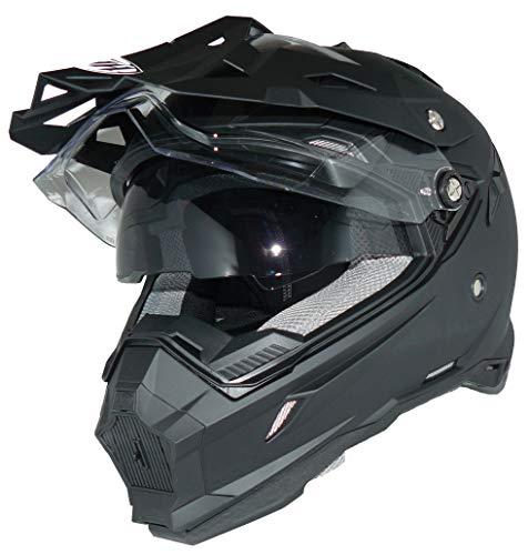 Crosshelm Endurohelm Motorradhelm mit integrierter Sonnenblende und Visier THH-TX28-XXL