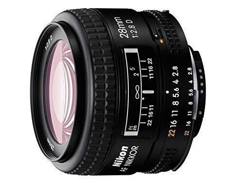 Nikon AF Nikkor 28mm f/2.8d Lente (Negro [Nital Card: 4años de garantía]