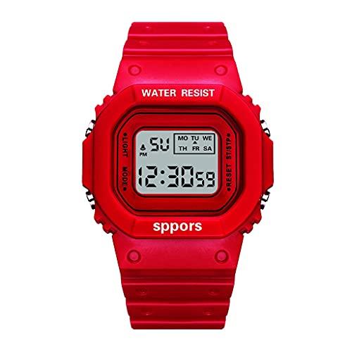OWZSAN Mujeres LUJERA DE Lugares DE Lugares Fecha Reloj Deportivo Reloj electrónico multifunción Reloj de la Marca de la Marca de la Marca de la Marca de Las Mujeres Reloj Luminoso Reloj Digital