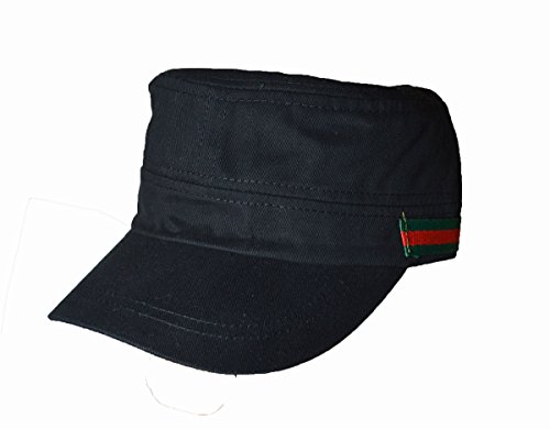 KGM Accessories Nice Militaire Cadet Casquette côté Logo à Rayures Noir