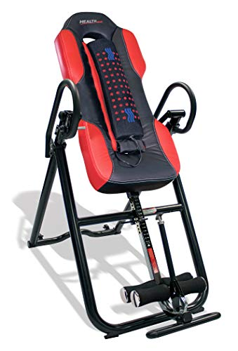 Health Gear ITM5500 Advanced Technology Inversion Table With Vibro Massage amp Heat  Heavy Duty up to 300 lbs